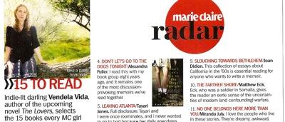 Marie Claire Dec 2009