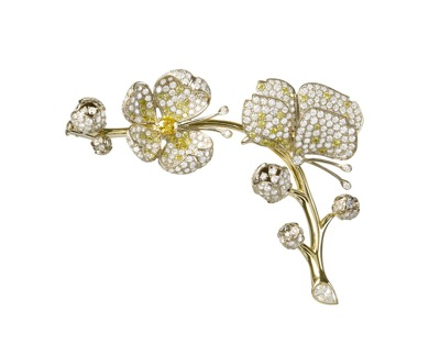 Van Cleef & Arpels - Papillons - Cherry Blossom Butterfly clip - Low Res