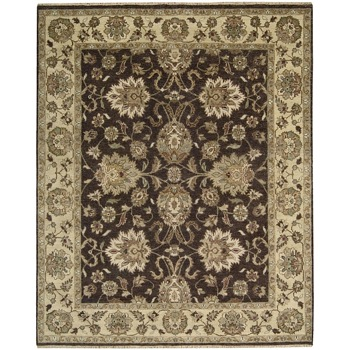 Tajik Brown Wool Rug Overstock