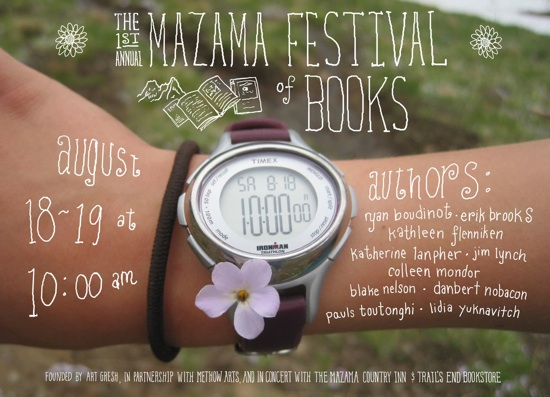 Mazama Festival of Books Poster by Erik Brooks