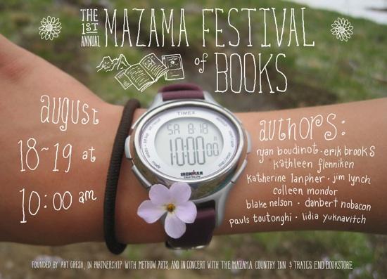 Mazama Festival of Books Poster by Erik Brooks